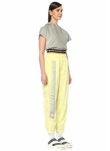 T By Alexander Wang Logo Baskılı Yüksek Bel Pantolon Sarı